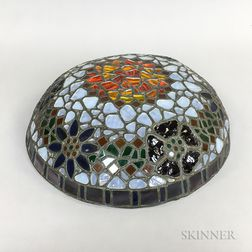 Contemporary Mosaic Glass Hanging Lamp Shade