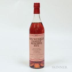 Van Winkle Family Reserve Rye 13 Years Old, 1 70cl bottle