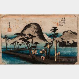 Utagawa Hiroshige (1797-1858), Hiratsuka: Nawate Road