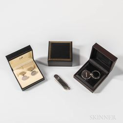 Three Sterling Silver Dunhill Gentleman's Items