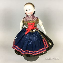 Alice-style China Shoulder Head Doll