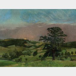 Frank von der Lancken (American, 1872-1950)      Sunset Across the Valley