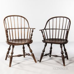Two Similar Sack-back Windsor Chairs