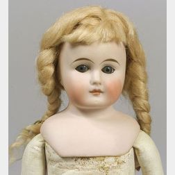 Small Closed Mouth Bisque Shoulder Head Doll
