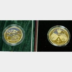 Two United Kingdom £ 5 Gold Uncirculated Coins