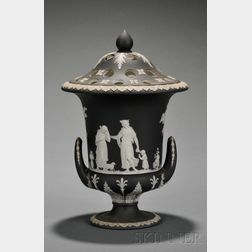 Wedgwood Black Jasper Dip Potpourri Vase and Cover
