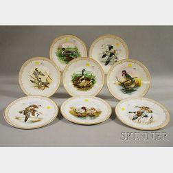 "Complete Set of Eight Edward Marshall Boehm ""Water Bird"" Plates"