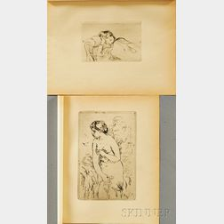 Two Posthumous Prints:      Pierre-Auguste Renoir (French, 1841-1919), Baigneuse