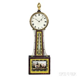 "Aaron Willard Jr. Patent Timepiece or ""Banjo"" Clock"