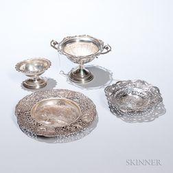 Four German Silver Tableware Items