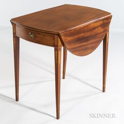 Mahogany Inlaid Pembroke Table