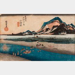 Utagawa Hiroshige (1797-1858), Odawara: The Sakawa River
