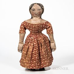 Painted Cloth Girl Doll