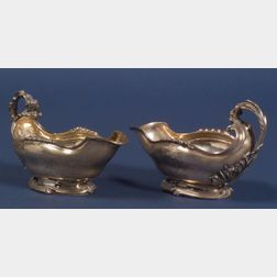 Pair of Louis XV French Silver Sauceboats