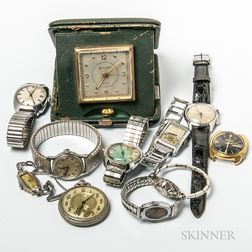 Group of Clocks and Watches