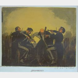 Unframed Silkscreen, Quartet  , by August Henkel (American, 20th Century)