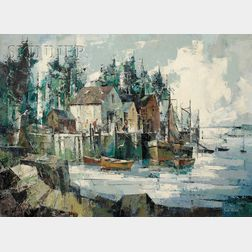 John Cuthbert Hare  (American, 1908-1978)      New Harbor, Maine