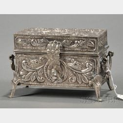 Spanish Colonial Silver Jewelry Casket