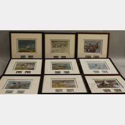 Nine Framed Duck Stamp Prints