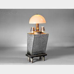 R.M. Fischer (American, b. 1947)      Three-light Table Lamp