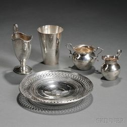 Five American Sterling Silver Trophies from Massachusetts Yacht Clubs