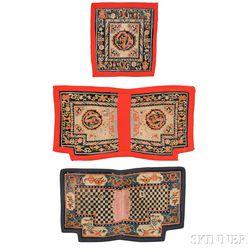 Two Tibetan Saddle Covers and a Seatback