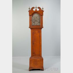 Levi & Abel Hutchins Birch Tall Clock