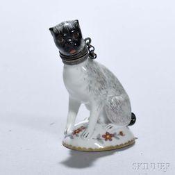 Porcelain Dog Perfume Bottle