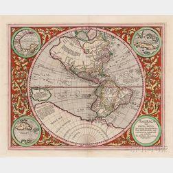 North and South America, Western Hemisphere. Michael Mercator (c. 1567-1600) America Sive India Nova, ad magnae Gerardi Mercatoris aui