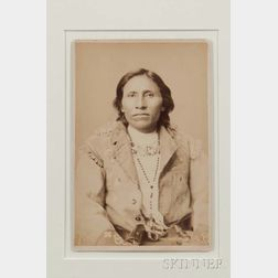 "Framed Cabinet Card Photograph of Chief ""Grey Bear"" by F. Jay Haynes"