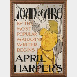 Penfield, Edward (1866-1925) Joan of Arc by the Most Popular Magazine Writer Begins in April   [1895] Harper's  , Poster.