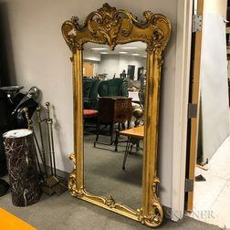 Rococo Revival Carved and Gilt-gesso Pier Mirror