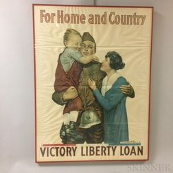 Framed For Home and Country   WWI Liberty Loan Poster