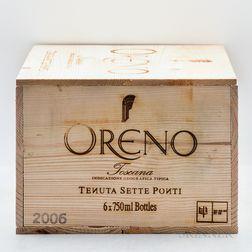 Tenuta Sette Ponti Oreno 2006, 6 bottles (owc)