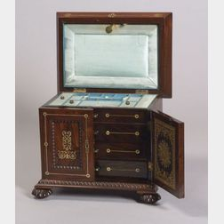 William IV Mother of Pearl Inlaid Rosewood Jewel Casket