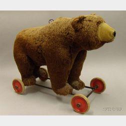 Steiff Brown Mohair Ride-On Bear