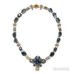 Unusual Gold Gem-set Necklace