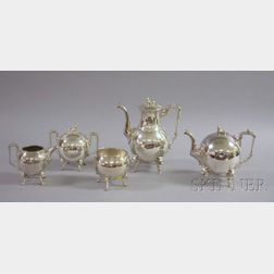 Simpson, Hall and Miller Egyptian Revival Silver Plate Tea and Coffee Service