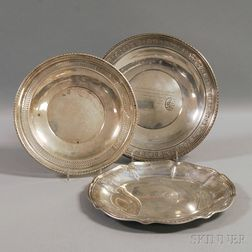 Three Assorted Sterling Silver Dishes