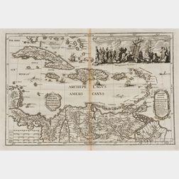 Caribbean and Coastal Venezuela. Heinrich Scherer (1628-1704)   Archipelagus Americanus