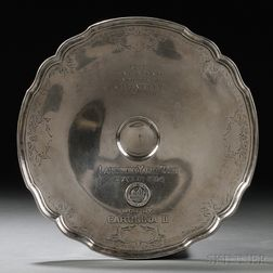 Frank M. Whiting Sterling Silver Larchmont Yacht Club Trophy Dish