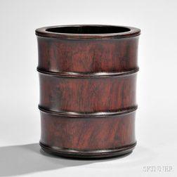 Huanghuali Bitong   Brush Pot