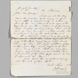 Lincoln, Abraham (1809-1865) Autograph Legal Document, [October 1851].