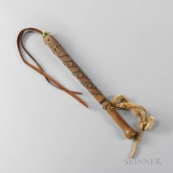 Blackfeet Decorated Wood Quirt