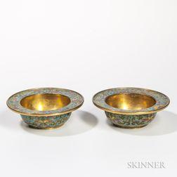 Pair of Gilt Cloisonne Bowls