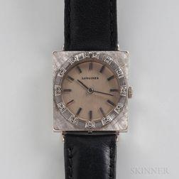 Longines 18kt White Gold Manual-wind Wristwatch