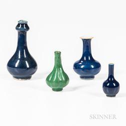 Four Miniature Vases