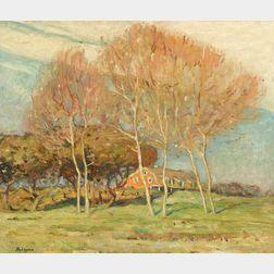 Robert Henry Logan (American, 1874-1942)      The Farm, Autumn