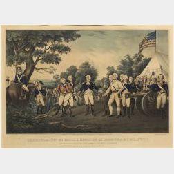 Nathaniel Currier, publisher (American, 1813-1888)  SURRENDER OF GENERAL  BURGOYNE AT SARATOGA N.Y. OCT. 17TH 1777.