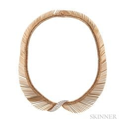 "18kt Gold and Diamond ""Angel Hair"" Necklace, Van Cleef & Arpels"